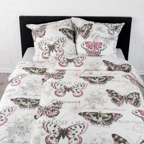 jilda tex bettwaesche vintage butterfly rose bild2