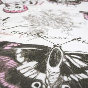 Bettwäsche Vintage Butterfly – Rose