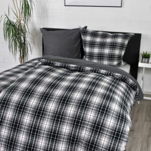 jilda-tex Bettwäsche Winter Check Black (135×200 cm)