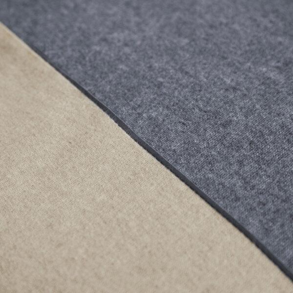 Bettwäsche im Design Dark Grey Stripe Beige Nahaufnahme