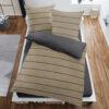 Bettwäsche im Design Stripes Beige von oben
