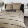 Bettwäsche im Design Stripes Beige von vorne