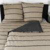Bettwäsche im Design Stripes Beige schräg von oben