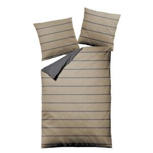 jilda-tex Bettwäsche Melange Stripes Beige
