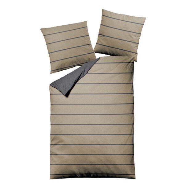Bettwäsche im Design Stripes Beige Freisteller