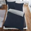 Bettwäsche im Design Uni Light Grey Blue von oben