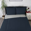 Bettwäsche im Design Uni Light Grey Blue schräg von oben