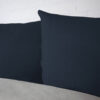 Bettwäsche im Design Uni Light Grey Blue von der Seite