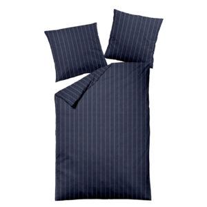 jilda-tex Bettwäsche Melange Dark Pinstripes Blue
