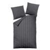 Bettwäsche Melange im Design Dark Pinstripes Grey als Freisteller