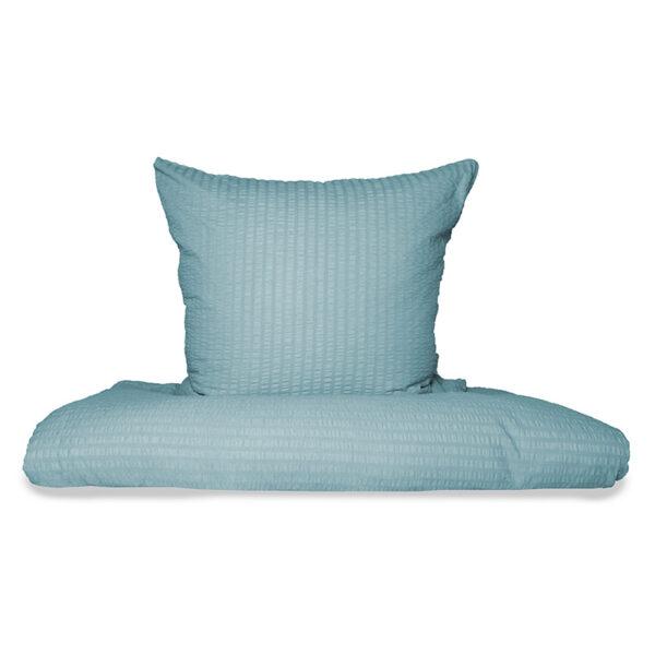 Bettwäsche im Design Valencia Himmelblau Freisteller von vorne