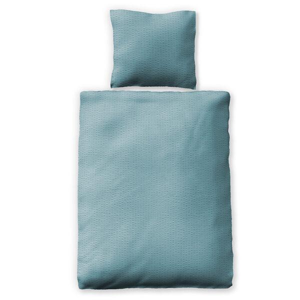 Bettwäsche im Design Valencia Himmelblau Freisteller von oben