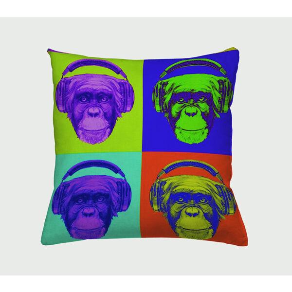 Zierkissen Chimpop - Schimpanse in vier verschiedenen Farben