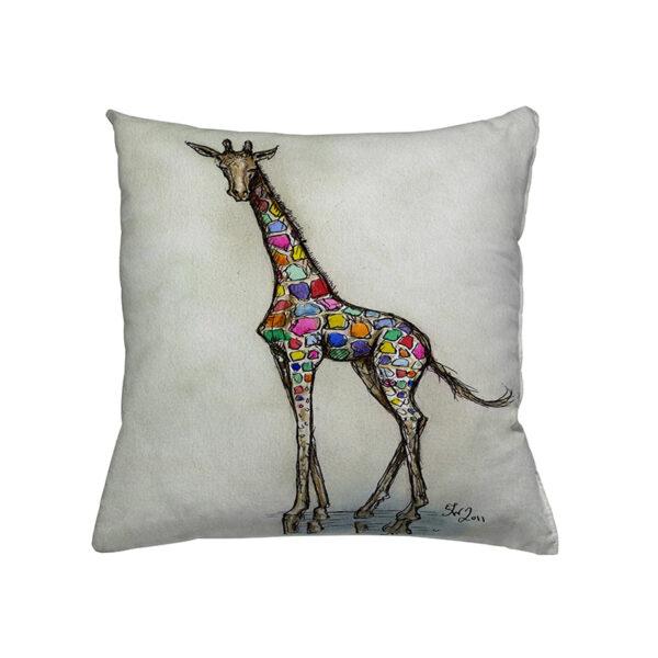 Zierkissen Gemmy Giraffe - Giraffe in bunten Farben