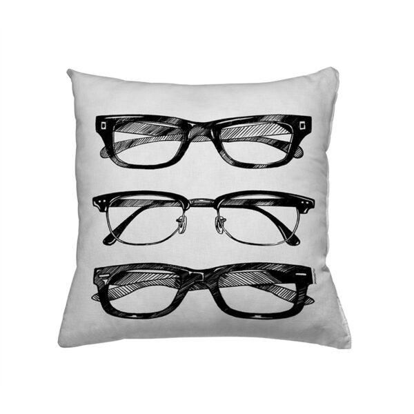 Zierkissen Glasses - drei verschiedene Brillen
