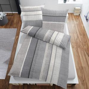 jilda-tex Bettwäsche Classic Line Grey (135×200 cm)