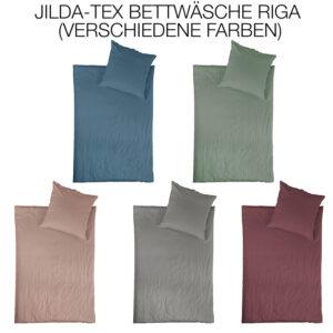 jilda-tex Linon Bettwäsche Riga 135x200cm in verschiedenen Farben