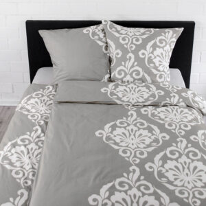 jilda-tex Bettwäsche Ornament Classic – Grey (135x200cm
