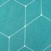 Nahaufnahme Renforcé Bettwäsche Simple Geometric Petrol