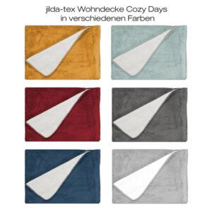 jilda-tex Wohndecke Cosy Days 130x170cm (verschiedene Farben)