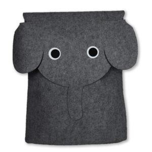 "Aufbewahrungskorb Filou ""Elefant"" Dunkelgrau"