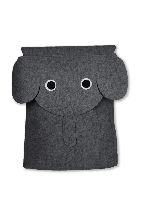 Filz Aufbewahrungstasche Filou Kids Elefant anthrazit 1 scaled