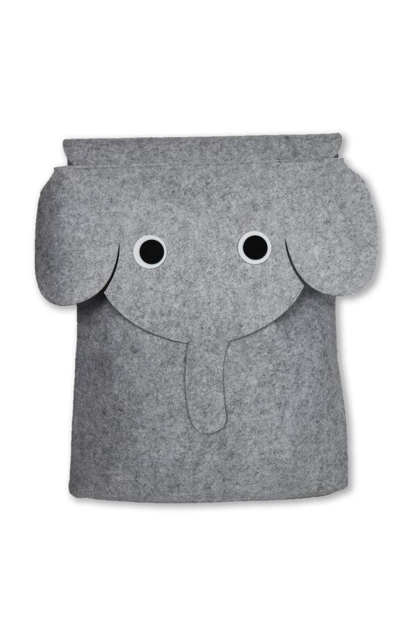 Filz Aufbewahrungstasche Filou Kids Elefant grau 1 scaled